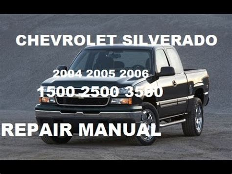 how to download repair manuals 2006 chevrolet silverado auto manual chevrolet silverado 2004 2005 2006 repair manual youtube