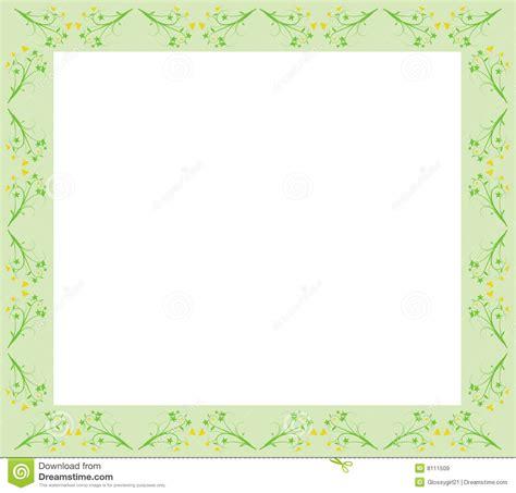 id card border design floral green border stock vector illustration of