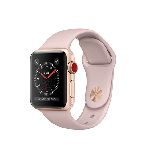 Apple Series 4 38mm Gps Cellular by Refurbished Apple Series 3 Gps Cellular 38mm Gold Aluminum With Pink Sand Sport