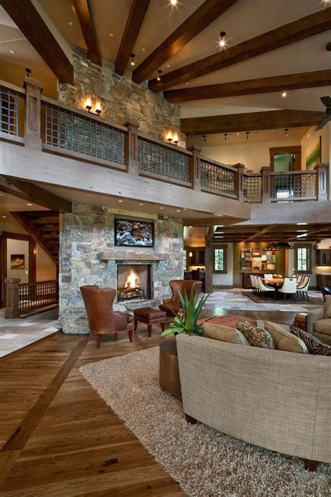 open floor plan mountain home ideas