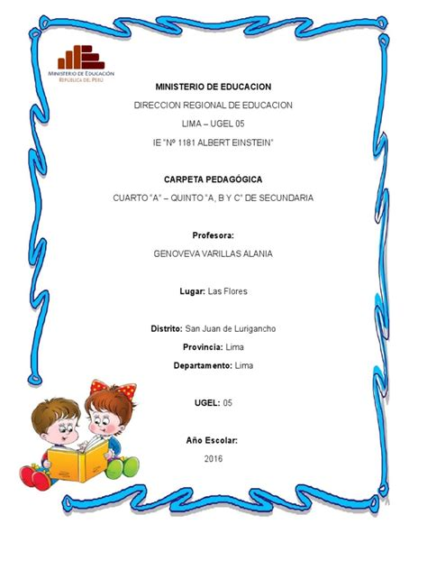 carpeta pedagogica de primaria 2016 carpeta pedagogica 2016 1 para imprimir
