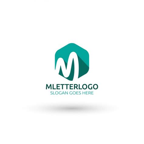 free template logo m letter logo template vector free