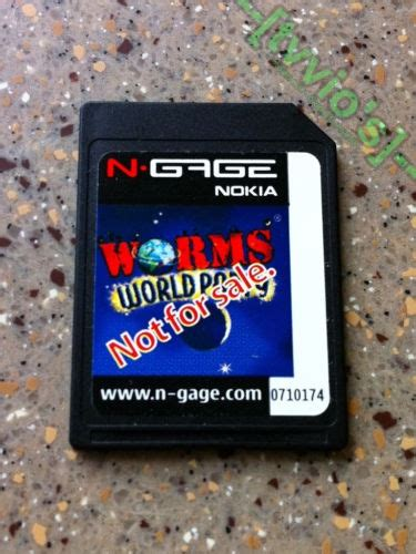 Memory Card N Gage Worms World Not For Sale Card 0710174 Para Nokia N