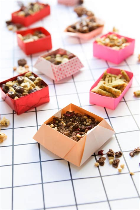 Snack Paper by Origami Snack Boxes Diy