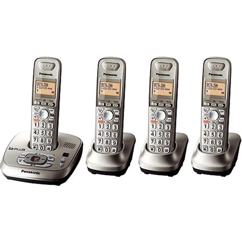Walmart Home Phones With Answering Machine by Panasonic Dect 6 0 Phone System Kx Tg4024n Walmart