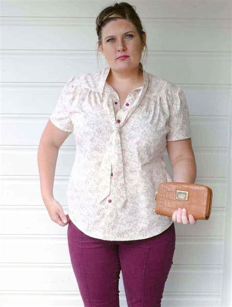 Blouse Pattern blouse tie neck blouse pattern xxs to 5xl