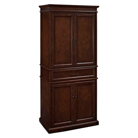 kitchen storage furniture pantry parsons pantry storage wood mahogany crosley target
