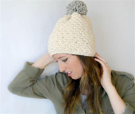 crochet pattern chunky yarn hat ski lodge chunky crochet pom hat pattern mama in a stitch