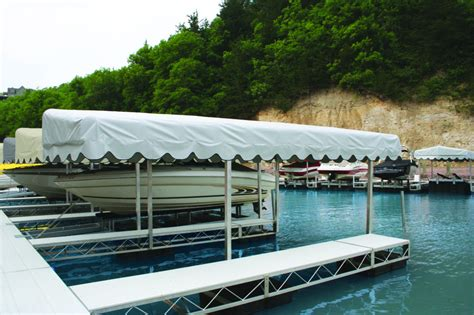 boat awning rush co marine boat lift canopy cover for floe 28 x 120 quot aluminum frame iboats com