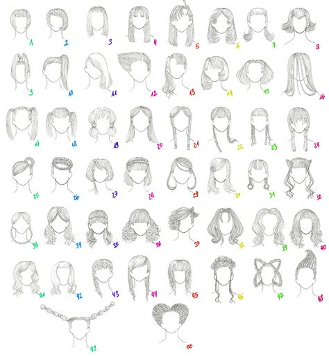 anime hairstyles with names 50 female anime hairstyles by anaiskalinin on deviantart