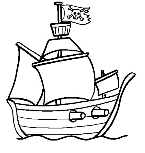 dessin bateau simple bateau de pirate coloriages des transports
