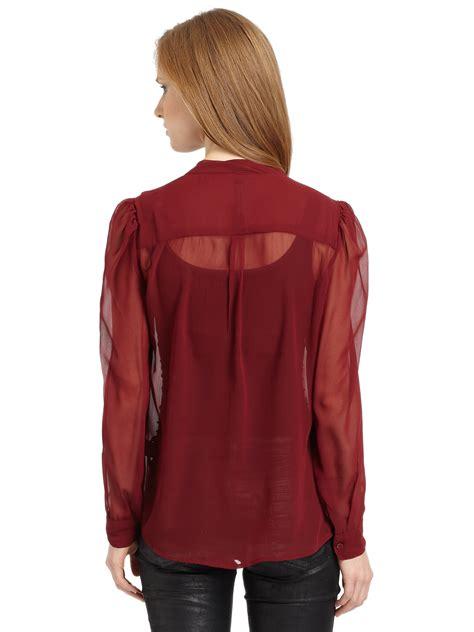Mirisa Blouse lyst w118 by walter baker marisa chiffon blouse in