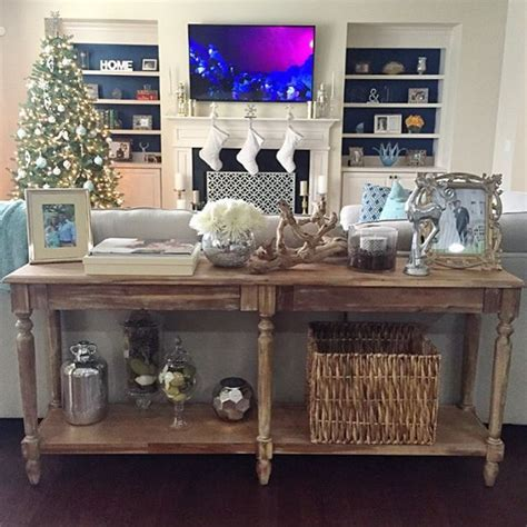 sofa table decor best 25 table ideas on