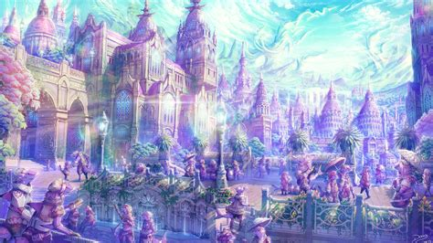 Anime Kingdom by Anime Artistic Cities Soft Castles Landscapes