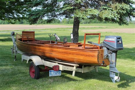 boat motors for sale usa solid hand crafted wood canoe motor boat boat for sale