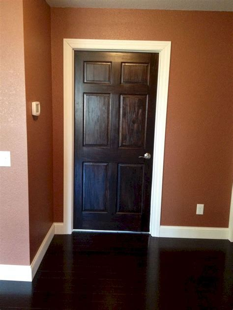 stained doors with white trim stained doors