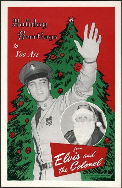 elvis military christmas card   colonel  santa