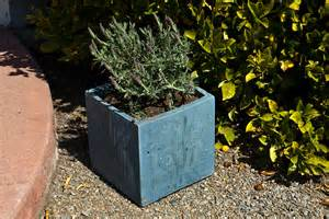 Diy Cement Planter Box concrete pots plans simple home decoration tips