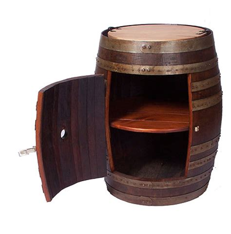 wine barrel storage cabinet gift for the wine lover recycled wine barrel side cabinet