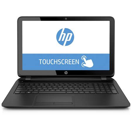 "hp black touchscreen 15.6"" 15 f125wm laptop pc with intel"