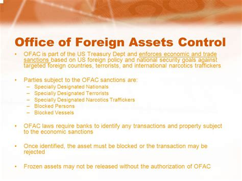 Office Of Foreign Assets Available From Bankersonline Ppt