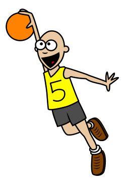 drawing  cartoon basketball player