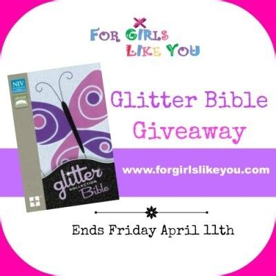 How Do You Spell Giveaway - win a glitter bible for girls for girls like you