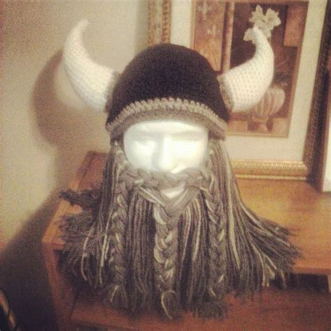 sewing pattern viking hat crochet bearded viking helmet by witchwithahook on etsy