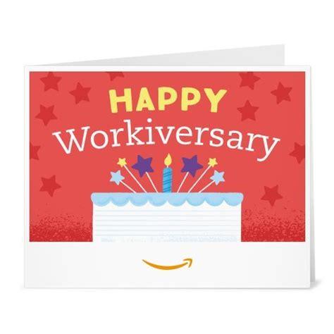 Ecard Gift Cards - amazon gift card print happy workiversary ecard gift