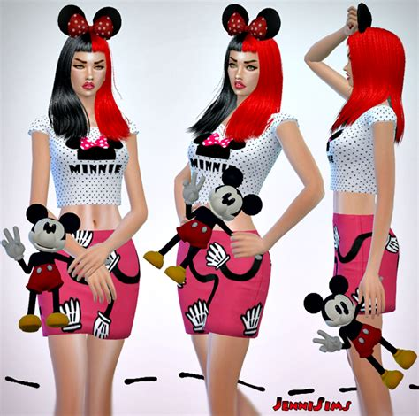 Mickey Dress Cc my sims 4 accessory mickey mouse doll by jennisims