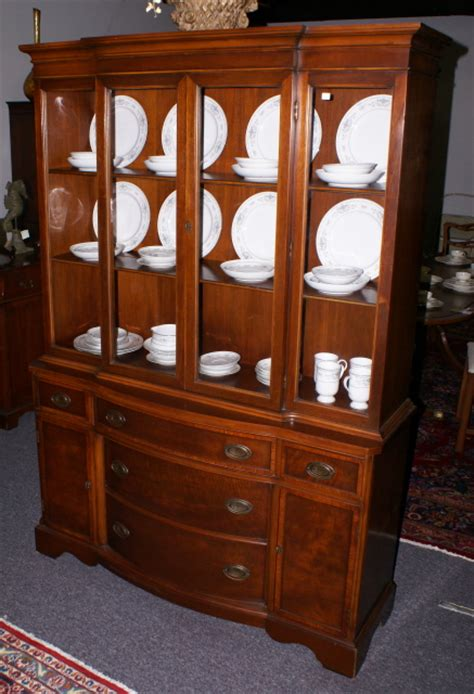 Dining Room Servers Sideboards by Banded Inlaid Mahogany Bow Front China Cabinet
