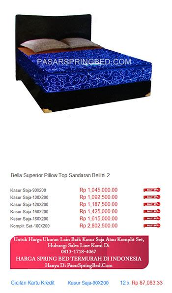 Kasur Bed Medan kasur harga bed termurah di indonesia