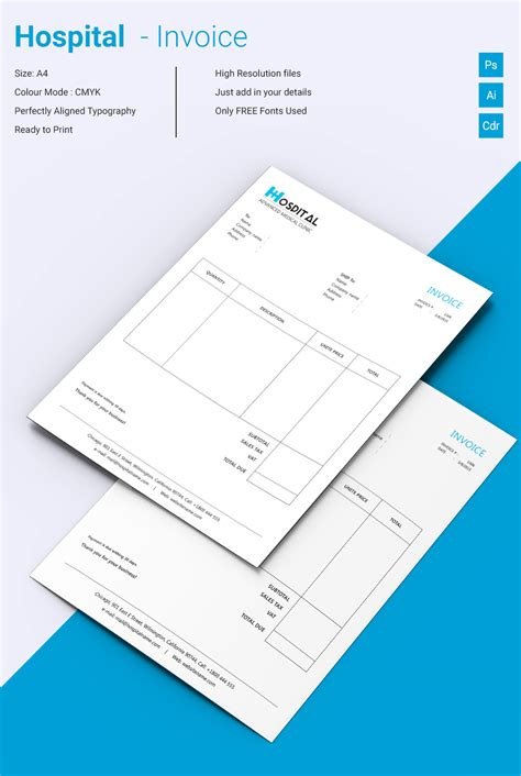 Invoice Template For Mac Online Hospital Bill Template