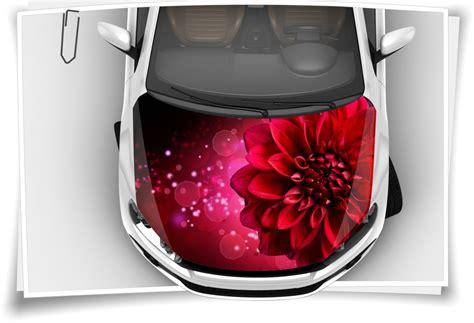 Motorhauben Aufkleber Airbrush by Blume Dahlia Rot Autoaufkleber Airbrush Motorhaube