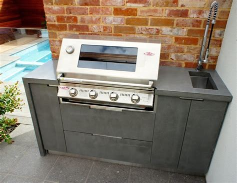 outdoor kitchen benchtops outdoor kitchen polished concrete benchtops doors and