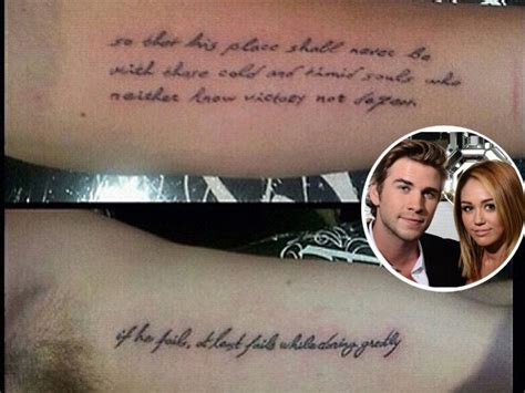 matching tattoo fail miley cyrus and liam hemsworth get matching tattoos