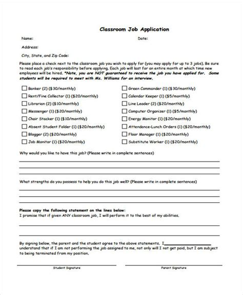 application template for students 41 student application form templates
