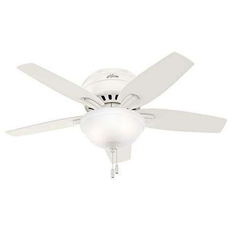 Small Ceiling Fan Light Bulbs Fan Company 51080 Newsome Ceiling Fan With Light 42 Small Fresh White Bulbs