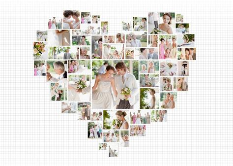 17 Best Photos Of Heart Shaped Photo Collage Template Heart Crafts Pinterest Photo Free Shaped Photo Collage Template