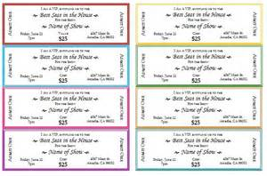 Ticket Printing Template by Event Ticket Template Printable Templates
