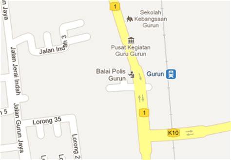 Ktm Intercity Map Gurun Railway Station Mrt My