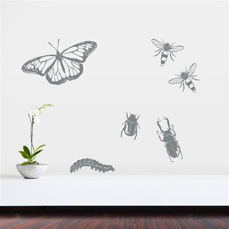 insect wall stickers insects set one wall decal