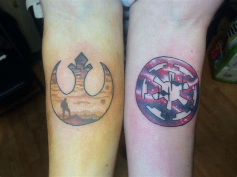 imperial tattoos a different take on wars rebel alliance and imperial