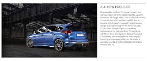 2016 Focus Rs Horsepower by 2016 Ford Focus Rs Horsepower Leaked 350 Ps 345 Hp Of