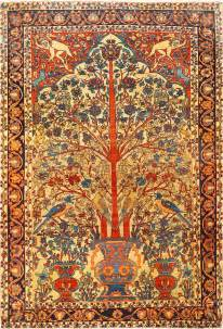 Country Area Rugs Fine Antique Sarouk Farahan Tree Of Life Persian Rug 48624