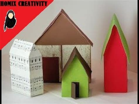 How To Make A House Using Paper - how to make paper house hut how to make hut using a4