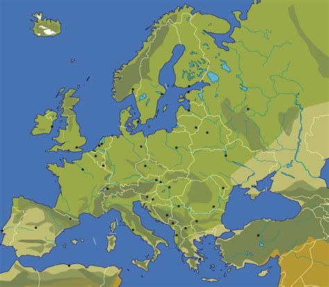 physical map of europe blank map of europe johomaps