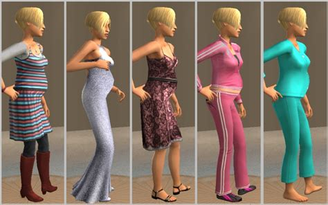 sims 3 teen pregnancy clothes mod the sims assorted pregnant looking teen meshes 3rd set