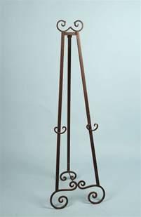 decorative metal floor easel brown tone finish arizona