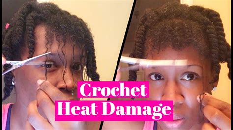 crochet braids and damage crochet braids heat damage youtube